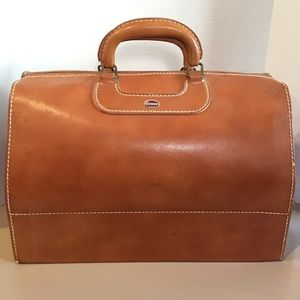 Towne USA Cognac Leather Doctor's Travel Luggage